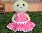 Calico Critters/Sylvanian Families Clothing, Calico Critter Clothes, Calico Critters, Sylvanian Families, Geometric Print, Spring Dress