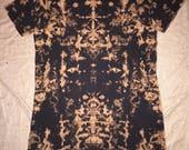 3946 Womens S/M L.A.T. V-Neck T-Dress Reverse Dye 100% Cotton