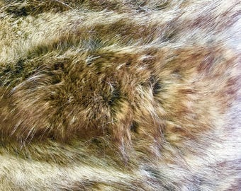 "Canadian Fox Honey Faux Fur Soft 2"" Pile for Costumes, Upholstery, Coats, Boots, Crafting, Pillows, Cosplay"