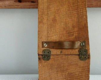 Wooden Matchstick Box Holder