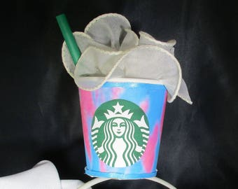Unicorn Frappuccino inspired headband fascinator