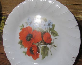 Poppy Flower Collector Plate