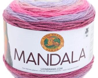 Lion Brand Mandala Yarn, One Ball of colorway Wood Nymph
