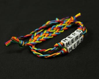 Hers and Hers Bracelets Lesbian Pride Couples LGBTQ