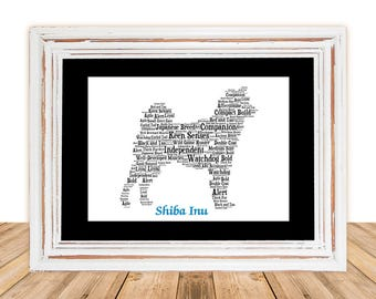 Shiba Inu, Shiba Inu Art, Shiba Inu Artwork, Custom, Personalize, Pet Gift, Gifts Under 25, Dog Art, Pet Art, Pet Memorial, Custom Dog
