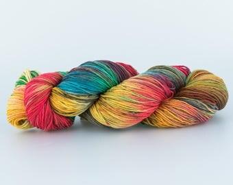 Laine Tricotcolor teinte à la main arc en ciel tricot crochet fourniture créative couleurs wool knit teinture handdyedwool tissage teinture