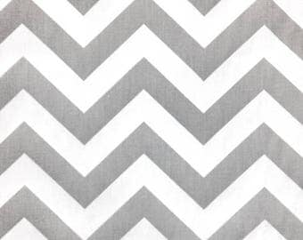 1 Yard Storm Gray ZigZag Fabric - Premier Prints- Chevron Fabric by the Yard. Destash
