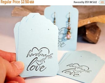 """CIJ Baby Blue Earring Cards, Card Stock  Earring Cards,  Card Stock Earring Cards 20 Earring Cards, Supplies  Size 3 1/4 x 2 1/8"""", CKDesigns"""