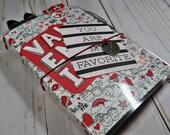 OOAK B6 Travelers Notebook - Valentines, Red, Black, White, Journal