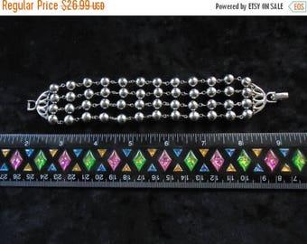 Now On Sale Vintage Silver 4 Strands Bracelet 1950s 60s 70s Mad Men Mod Old Hollywood Glam