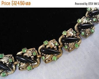 Now On Sale Vintage Unsigned Selro Red Green Purple Gold Rhinestone Chunky Bracelet - Retro 1950's 1960's- High End Hard To Find Jewelry