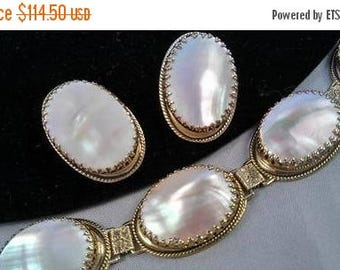 On Sale Stunning Designer Bracelet Earring Set ** Signed Whiting & Davis ** 1950's Hollywood Regency  ** 60s Retro Collectible Jewelry