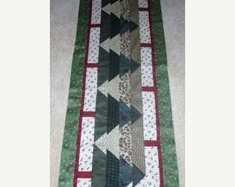 20 % off thru 8/20 CAN'T SEE the Forest Christmas Trees table runner pattern December Year two- pieced quilted