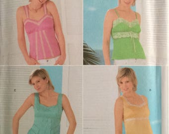 Simplicity 4534, Size 12-14-16-18-20, Misses' Top with Bodice Variations Pattern, UNCUT, Camisole Top, Tank Top, Summer, Fun, 2005