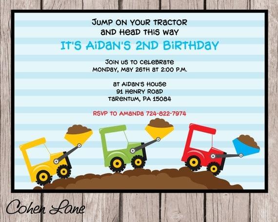 il_570xN.1287271561_2f3e constructions party invitation tractor birthday party,Tractor Birthday Party Invitations