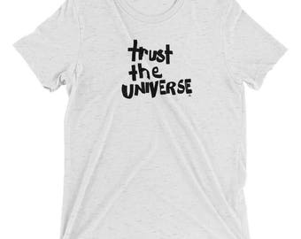 trust the universe tee, yoga clothing, yoga shirt, spiritual clothing, spiritual, yoga, tees, women's clothing