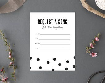 Printable Request a Song Card - Chelsea Collection