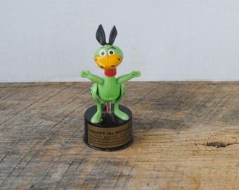 Vintage Kohner Hoppy The Hopparoo Push Puppet Flintstones
