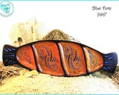 "Blue Swoops Jewelry Tray, ""Blue Note"" Decorative Art OOAK, TB14-47"