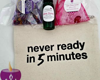 Never Ready in 5 Minutes Wine Divine Goodie Bag