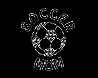 Soccer Mom   Rhinestone Transfer   Soccer Ball   Rhinestone Name   Soccer Grandma   Rhinestone Nana   T Shirt Transfer   DIY Iron On   34191