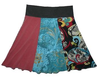 Yoga Skirt Women's Medium Upcycled Hippie Skirt Boho Skirt Recycled T-Shirt Clothing Twinkle Skirts Twinklewear