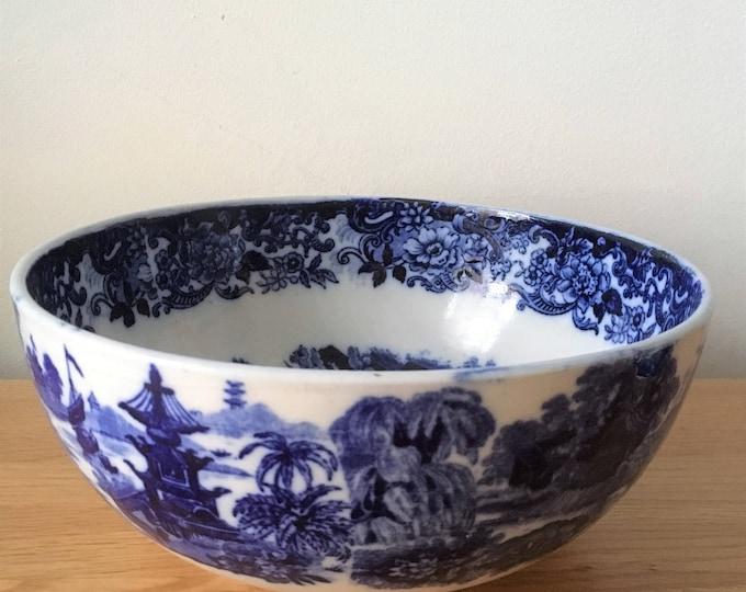 Blue & White Antique Bowl