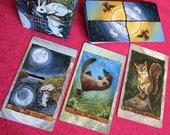 Animism Tarot Deck, 79 Card Animal Tarot, Happy Squirrel Tarot Card, Animal Totem Symbolism, Gift for Tarot Readers, Animal Lovers