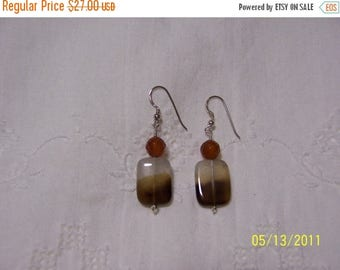 TWICE A YEAR, 25% Off Bicolor Quartz and Faceted carnelian dangle earrings. sterling silver.