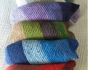 Asymmetrical shawls/scarves/wraps (wool-blend) color variations
