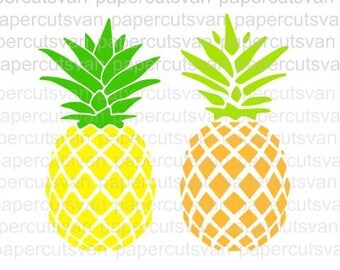 Pineapple SV Logo // Silhouette - Cameo - Cricut //  Clip Art, SVGs , Instant Download