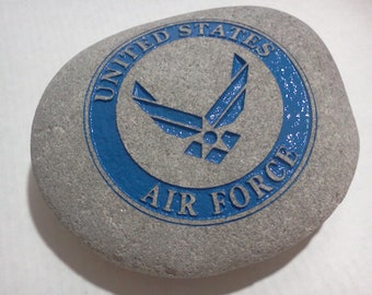 US Air Force Engraved Stone