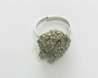 Pyrite Nugget Ring
