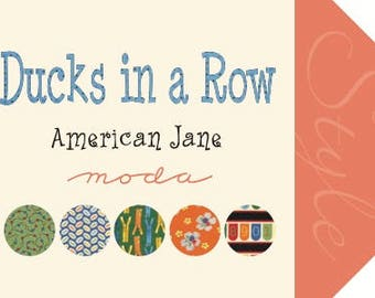 Ducks in a Row Fabric Collection by American Jane for Moda Fabrics - 1 Fat Quarter Bundle of 33
