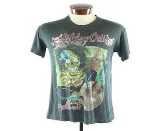 Vintage 80s 1989 Motley Crue T-shirt Dr. Feelgood Concert Screen Tee 1980s Medium M Hair Band