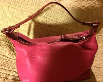 COACH Hot Pink Leather Mini Purse/Handbag