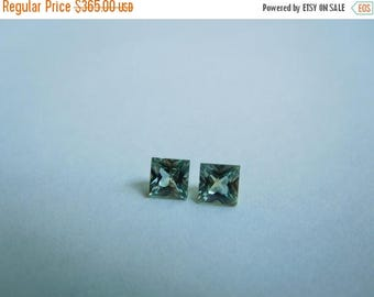 SUMMER FLASH SALE Genuine Montana Sapphires 3.5 mm Princess cut Matched Pair loose gemstones for earrings or side stones