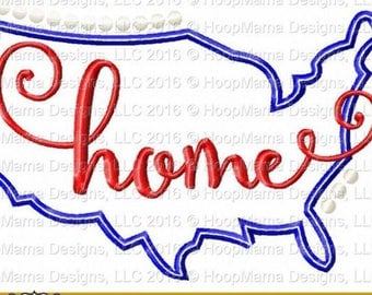 USA HOME Design - 4th of July Custom Applique Shirt -Ruffle or Flutter Tee