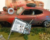 Junked Car, 1/24 Scale,Scale Model Car,Diorama,Rat Rod,1970 Chevelle