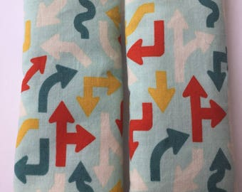 Arrows-Car Seat Strap Covers/ Stroller Strap Covers/Reversible Strap Covers