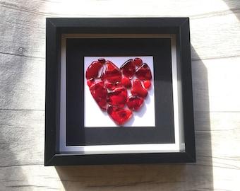 Heart gift etsy fused glass art heart valentines gift heart art heart decor valentine heart negle Gallery