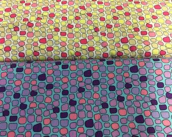 Irregular squares fabric in 2 colours By The Metre