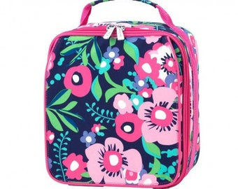 Posie Insulated Lunch Box * Monogrammed FREE * / Girls Lunch Box / Personalized Lunch Box / Back to School Gear / FREE Personalization
