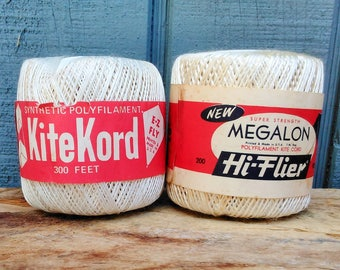 Kite String - Kite Cord - Vintage String - Hobby String - Vintage Advertising - New Old Stock - Ball of String - Vinytage Toy