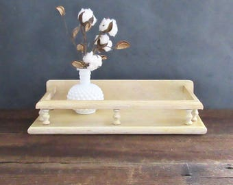 Vintage Wood Vanity Tray, Rustic Dresser Tray, Farmhouse Decor