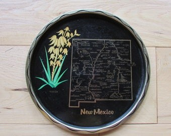 New Mexico Bar Serving Tray Vintage