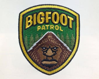 Bigfoot Patrol embroidered patch