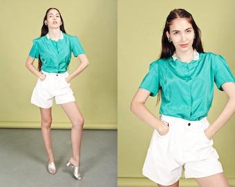 90s White Denim Lee Shorts Vintage Classic Minimal Jean Shorts