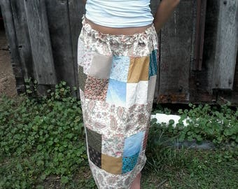 Patchwork Scrap Skirt