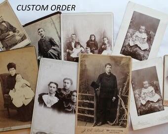 CUSTOM ORDER of Nine Photos